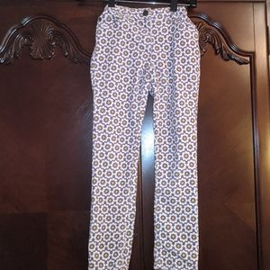 Girls Mini Boden Floral Corduroy Pants